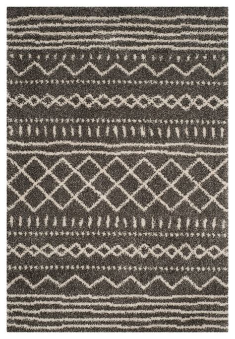 Scandinavian Area Rugs Shag Rug Brown Ivory 3 X5 Scandinavian Area Rugs By Safavieh