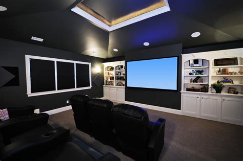 media room ceiling lighting 32 luxury home media room design ideas pictures