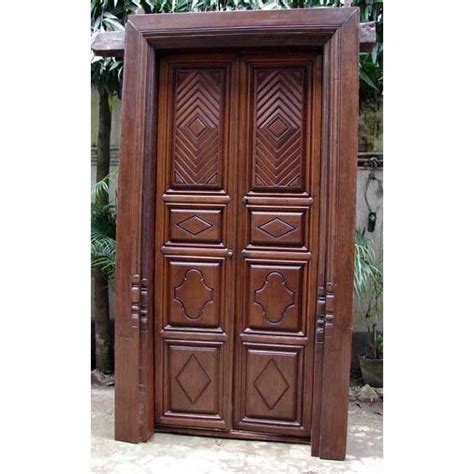 south indian teak double door  frame thth century