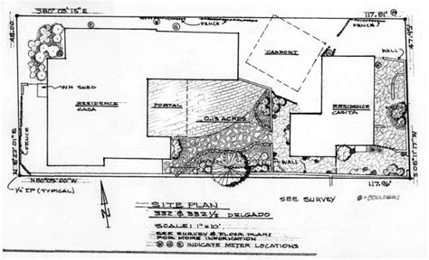 Layout Of The House Traducir | plan for delgado garden