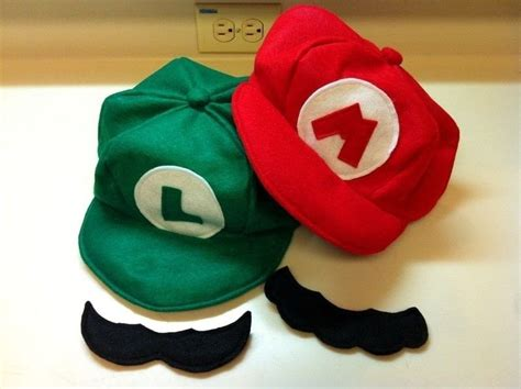 How To Make A Mario Hat Out Of Paper - mario luigi hats and mustaches 183 a costume 183 sewing on