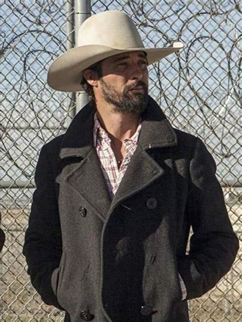 ryan bingham yellowstone walker grey wool coat william