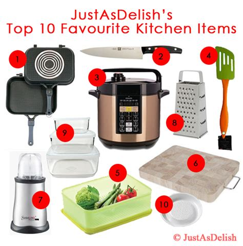 kitchen stuff 10 favourite kitchen items justasdelish com