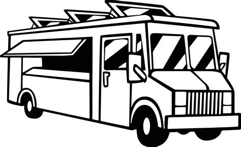 coloring book pages truck food delivery truck coloring page wecoloringpage