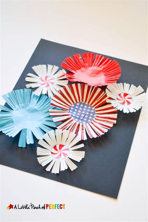 Paper Fireworks Crafts - cupcake liner fireworks craft for to celebrate the