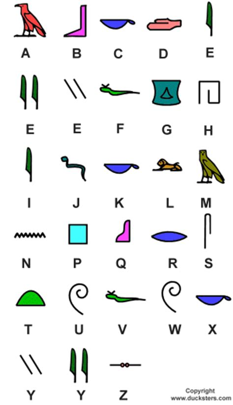 printable egyptian alphabet ancient egypt for kids hieroglyphic exles and alphabet