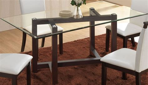 rectangular glass dining table cappuccino glass rectangular dining table d3972