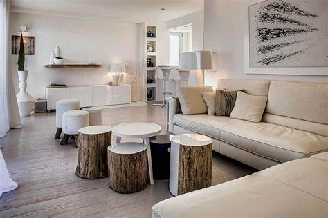 contemporary rustic decor tree trunk decor ideas tables stools mirrors and