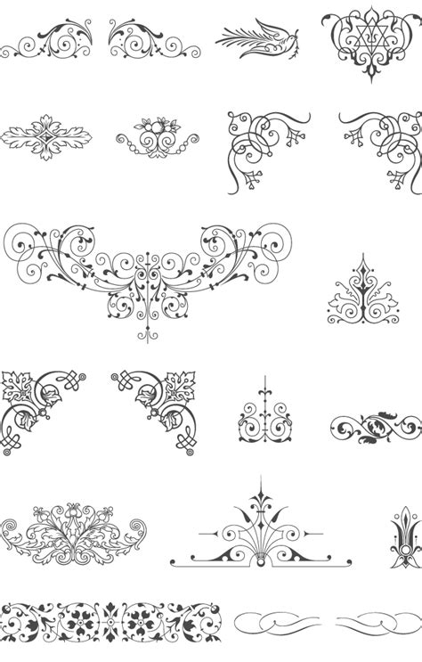 pattern ornament font 85 free vintage vector ornaments design fontastic