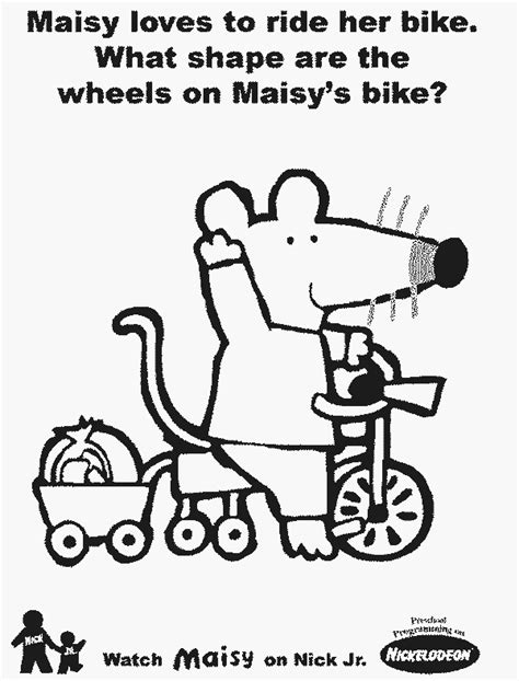 bike free printable maisy coloring pages