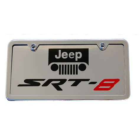 Jeep License Plate Frame Jeep Srt8 Chrome License Plate Tag And Stainless Steel Frame