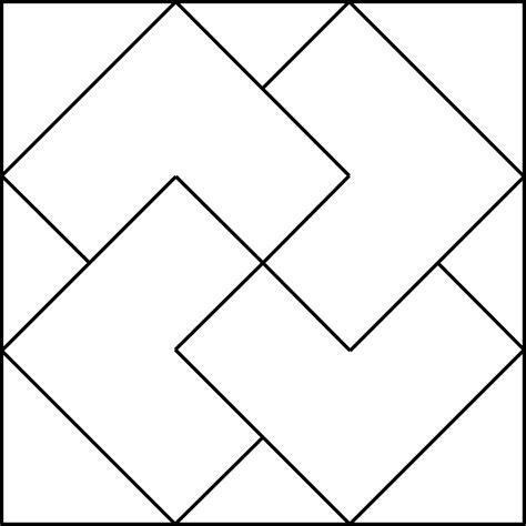 geometric pattern rotation geometric block pattern 29 clipart etc