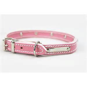 lotsforpets pink handmade diamante leather collar