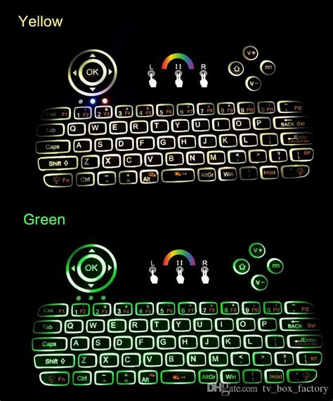 colorful wireless keyboard colorful backlight wireless keyboard i86 fly air mouse