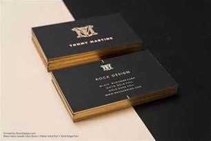Who Designed The Card - print with free gold foil business card templates