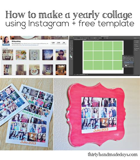 Decorating With Pictures At Thirty Handmade Days Instagram Collage Template