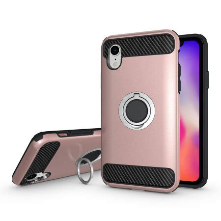olixar armaring iphone xr finger loop tough gold