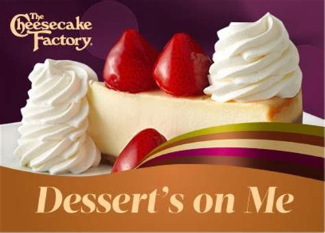 Cheesecake Factory Email Gift Card - two free slices of cheesecake with 25 the cheesecake