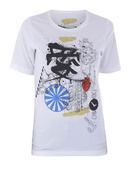 Dsquared2 Japanese Printed Cotton T Shirt T Shirts S71gd0410 S22427 900 by Dsquared2 Japan Print Cotton T Shirt T Shirts S72gc0932s22844100