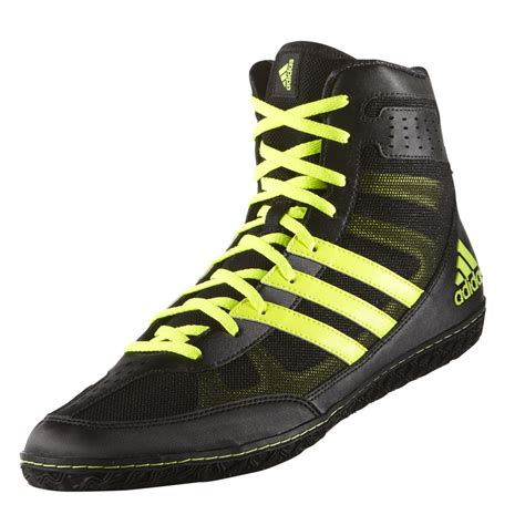 adidas mat wizard 3 shoes black neon yellow