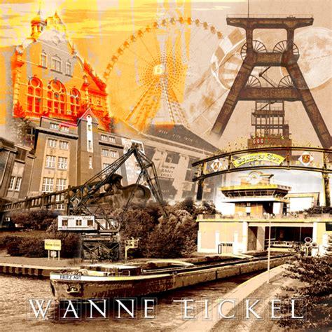 Italiener Wanne Eickel Wanne Eickel Collage Braun Fritzart Shop