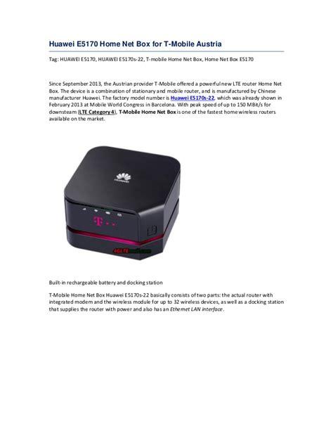 huawei e5170 home net box for t mobile austria
