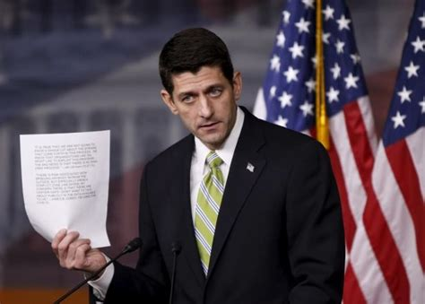 Paul Speaker Of The House by Donald Says It S To Prove Syrian Refugees Are