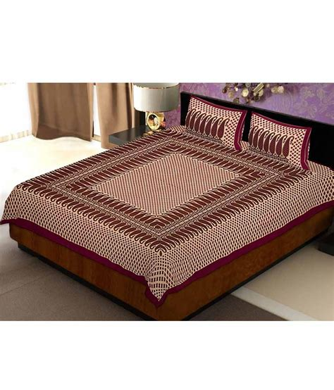 bed pillow covers rangistaan multicolor cotton double bed sheet with 2 pillow covers buy rangistaan