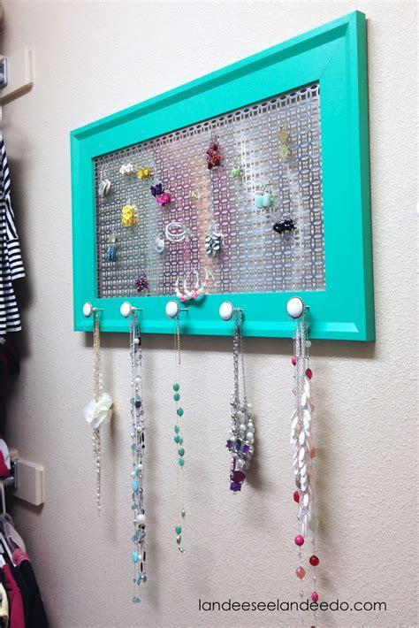 diy necklace organizer diy jewelry organizer landeelu