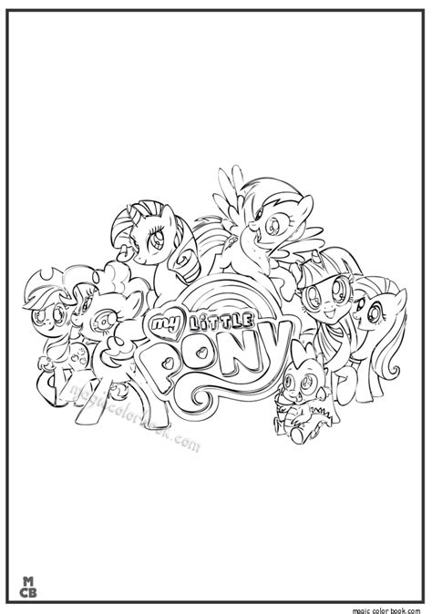 magic coloring book my pony friendship is magic coloring pages to print