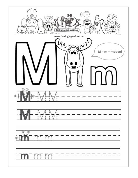 alphabet worksheets letter m kindergarten worksheets for letter m kindergarten a z