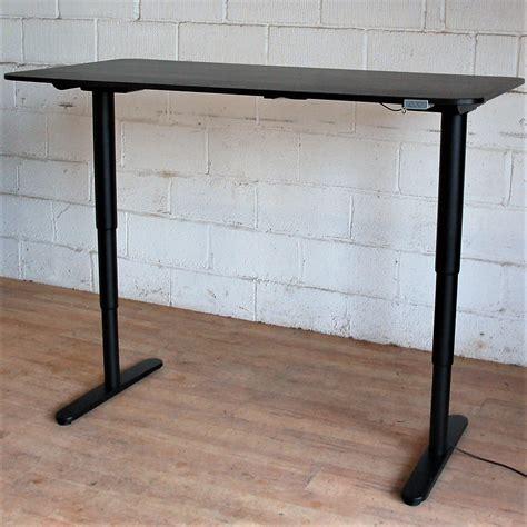 sit stand desk electric bekant electric sit stand desk 160cm black 11112 allard