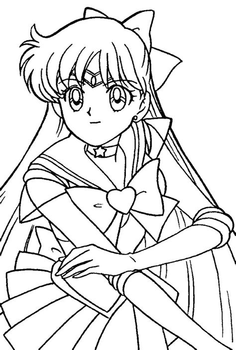 Sailor Venus Coloring Pages sailor venus coloring page 2 by sailortwilight on