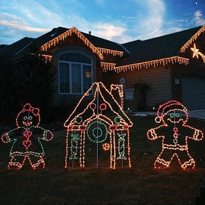 christmas on pinterest gingerbread houses garlands and i want lighted outdoor gingerbread house christmas