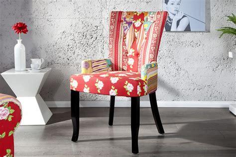 stuhl patchwork design patchwork stuhl mehrfarbig mit armlehne riess