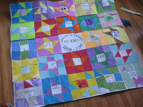 Quilt Paper Craft - paper quilting with kindergarteners