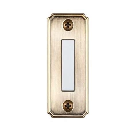 Bel Pintu Kuningan Brass Doorbell hton bay wired lighted door bell push button aged brass hb 618 02 the home depot