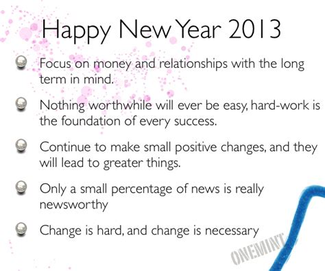 happy new year and thoughts for 2013