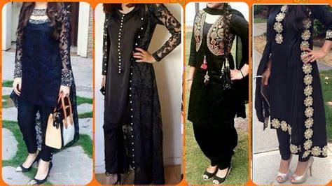 beautiful designer black suits design  girls