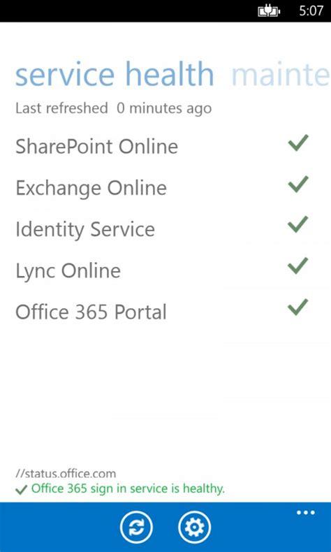 Office 365 Portal Status Microsoft Releases Office 365 Admin App For Windows Phone