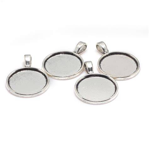 metal blanks for jewelry antique silver metal zinc alloy 20mm cabochon