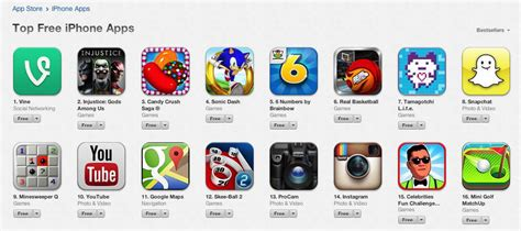 best free apps vine tops list of free iphone apps in app store