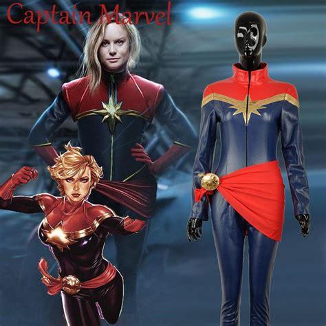 captain marvel ms marvel cosplay costume carol danvers pu