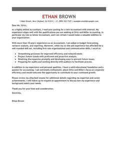 Accounting Application Cover Letter Sle