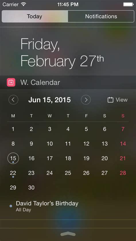 Calendars Widget Widget Calendar Ios