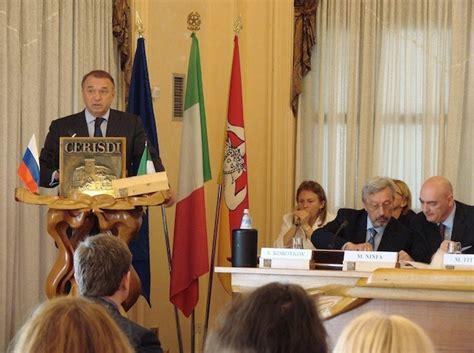 consolato russia palermo collaborazione russo italiana risultati della missione d
