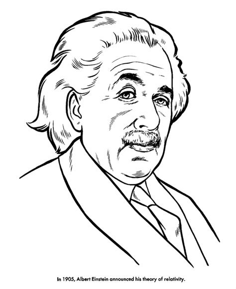 usa printables albert einstein coloring pages famous