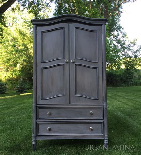painted armoire furniture urban patina authentically crafted home gift painted