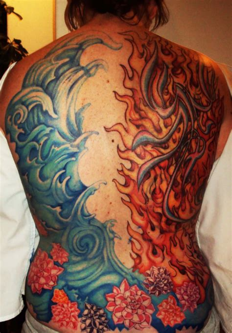 fire and water tattoo pin water tattoos picture image by tag