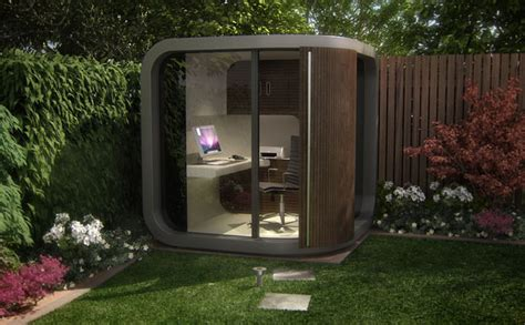 Backyard Pod by From On Site Cubicle To Backyard Officepod
